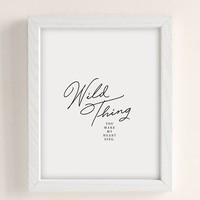 Honeymoon Hotel Wild Thing Art Print | Urban Outfitters