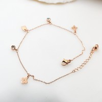Shiny New Arrival Jewelry Gift Korean Stylish Ladies Lock Titanium Anklet Accessory Necklace [8169869127]