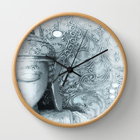 Fade to White Budda Wall Clock by Intrinsic Journeys