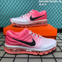 DCCK N192 Nike Air Max 2017 mesh breathable full palm cushion casual sports shoes White Pink