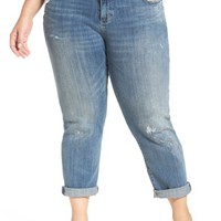 Lucky Brand Reese Distressed Stretch Boyfriend Jeans (Plus Size) | Nordstrom