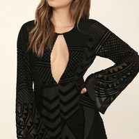 Shape and Form Black Velvet Romper