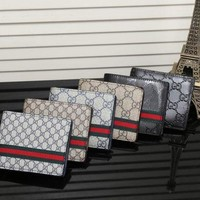 PEAPUF3 Gucci Man Leather Purse Wallet