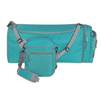 Travelon Convertible 2-in-1 Crossbody Duffel, Aqua