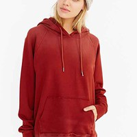 BDG Raw-Pocket Hooded Top- Burnt Orange