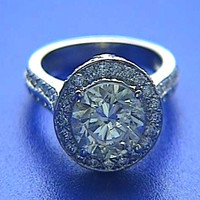 2.72ct Round Diamond Engagement Ring 18kt White Gold 900,000 GIA EGL certified Fine Jewelry