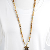 The Sherry Necklace - Wood