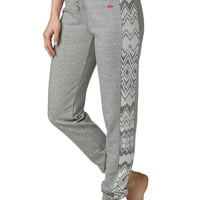 Ethnic Side Print French Terry Sweatpant - Gray