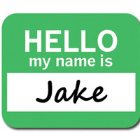 Jake Hello My Name Is Mouse Pad