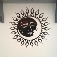 Sun And Moon With Faces Sticker