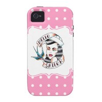 Hello Sailor Pink Case-Mate iPhone 4 Covers