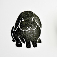 Bunny Hand Carved Rubber Stamp N 4