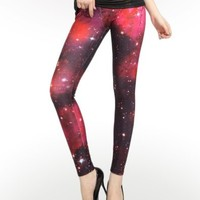 Red Dwarf Galaxy Leggings : Comfortable Galaxy Legging Pants