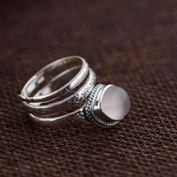 Thai Sterling Silver Moonstone Ring