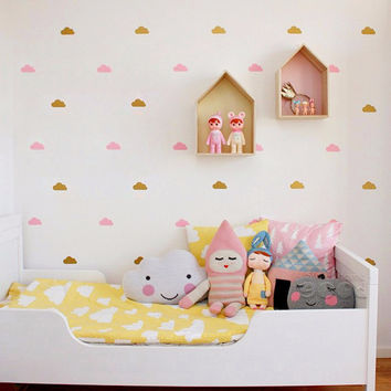 DIY Removable Small Cloud Wall Decal Stickers Baby Nursery Bedroom Vinyl Murals Wallpaper Kids Home Children Decor Free Shipping