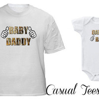Baby Daddy Daddy's Baby Matching Set for Dad and Baby