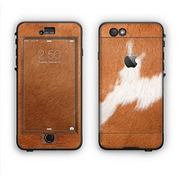 The Real Brown Cow Coat Texture Apple iPhone 6 LifeProof Nuud Case Skin Set