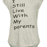 Full Tilt Live With My Parents Girls Muscle Tank Gray  In Sizes