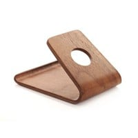 GoldMice Wooden Phone Holder/Mobile Phone Stand/Cell Phone Mount, Vintage Style, Universal Use for Most Smart Phones (walnut)