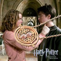 Harry Potter Timeturner Necklace Hermione Granger Rotating Spins Statement Necklaces For Women Horcrux Fashion Pendant Zphpl