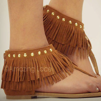 Whiskey Summer Fringe Sandals