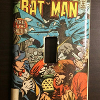 "Artimorean-Made Vintage Batman #374 (1984) ""Peril is the Penguin!"" Decoupaged Wall Plate - Art by Alan Davis!"