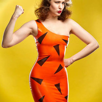 Bamm Bamm Rubble Flintstones Inspired Rubber Latex Dress