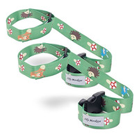 SillyMonkeys Sippy Cup Holder Stop Drop Strap 2-Pack (Forest Critters)