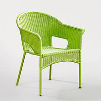 Green All-Weather Wicker Tub Chairs   Outdoor and Patio Furniture  Furniture   World Market