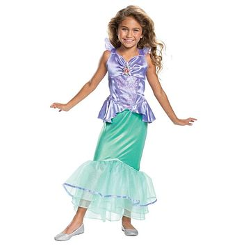 Girl's Disney Ariel Classic Toddler and Child Costume
