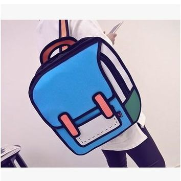 Student Backpack Children New Second Space Creative Japan Element 3D Shoulder Bag Backpack Tide Female Bag Fashion Student Backpack . AT_49_3