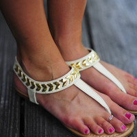 Follow The Arrows Sandals: Ivory   Hope's