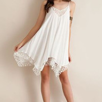 SIMPLE - Chiffon Sexy Floral Printed Handkerchief One Piece Dress a11485
