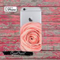 Light Pink Rose Flower Petals Floral Clear Phone Case For iPhone 6, iPhone 6 Plus +, iPhone 6s, iPhone 6s Plus +, iPhone 5/5s, iPhone 5c