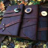 Huge Leather Journal / Refillable Notebook . . 9 x 6 . . Made in Portland,  SALE TODAY . .  Only 38.00 Dollars