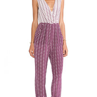 harlyn The Claudette Jumpsuit in Purple
