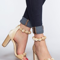 Living A Fairytale Heels - Champagne