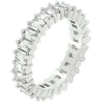 Classic Baguette Eternity Ring, size : 05