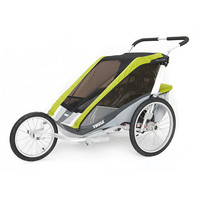 Thule Active with Kids Chariot Cougar 2 Multi-Sport Double Child Carrier with Strolling Kit - Avocado