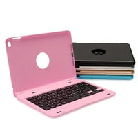 Brand New ABS Ultra Slim Portable Wireless Bluetooth 3.0 Keyboard Case Cover Holder For iPad Mini 4 With USB Charging Cable