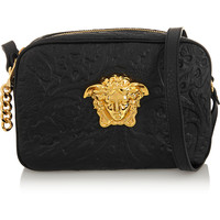 Versace - Embossed leather shoulder bag