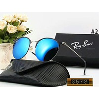 Ray Ban new men and women models personalized color film large frame retro polarized sunglasses #2
