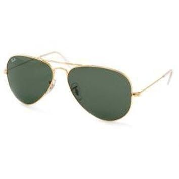 Ray Ban Aviator RB3025 Unisex Gold Frame Green Classic Lens Sunglasses - Free Shipping