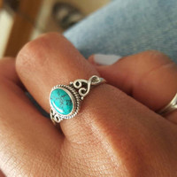Turquoise ring, silver ring, stone ring, silver Turquoise ring, 92.5 sterling silver, Natural Turquoise Silver Ring,