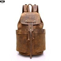 Zhuohome Leather Backpack