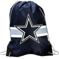 """Dallas Cowboys Forever Collectibles """"NFL Team Stripe Drawstring Backpack"""""""