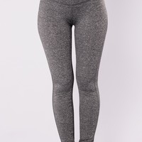 Sylvia Active Leggings - Charcoal
