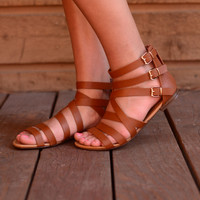 Here to Stay Sandals- Tan