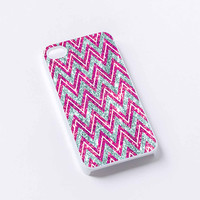 pink chevron gliter iPhone 4/4S, 5/5S, 5C,6,6plus,and Samsung s3,s4,s5,s6