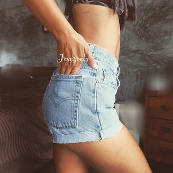 High waisted shorts Levi Hipster Indie Tumblr clothing